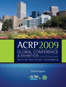 ACRP 2009 Global Conference & Exhibition Final Program