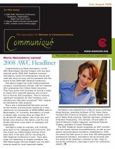 AWC Communique e-Newsletter