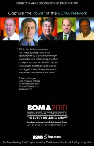 Capture the Power of the BOMA Network: BOMA 2010 Exhibitor and Sponsorship Prospectus