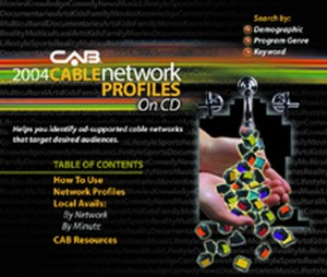 CAB: 2004 Cable Network Profiles on CD