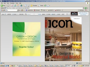 ICON eMagazine for the American Society of Interior Designers