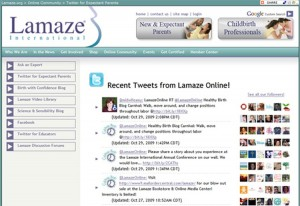 Lamaze International Twitter Feed