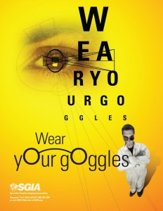 SGIA Safety Poster - Wear Your Goggles