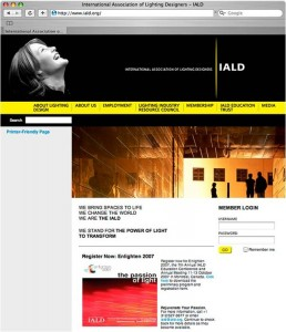 International Association of Lighting Designers Web Site