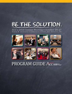 "ACC 2010 Annual Meeting ""BE THE SOLUTION"" Program Guide"