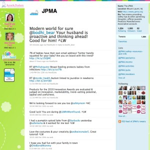 The Juvenile Products Manufacturers Association Twitter Feed, Facebook Page, YouTube, JPMA Parenting Blog & JPMA LinkedIn Group
