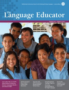 The Language Educator, October 2010