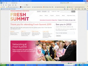 Fresh Summit 2011 Website
