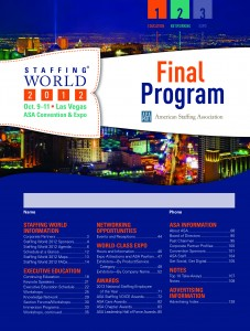 Staffing World 2012 Final Program