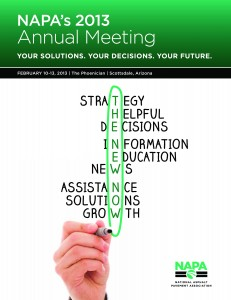NAPA's 2013 Annual Meeting First Brochure