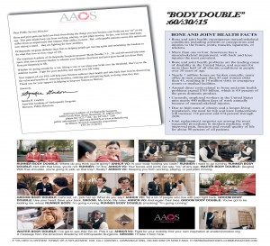 "AAOS' 2013 Television Public Service Announcement - ""Body Double"""