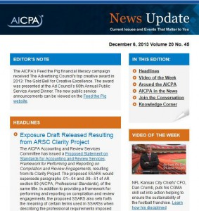 AICPA News Update