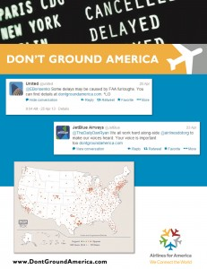 Promoting A4A's Don't Ground America Campaign through Twitter